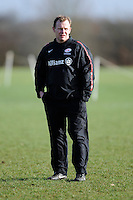 20130131 Copyright onEdition 2013©.Free for editorial use image, please credit: onEdition..Mark McCall, Saracens Director of Rugby, during the Saracens Captains Run at Old Albanians Rugby Club, St Albans on Thursday 31st January 2013 (Photo by Rob Munro)..For press contacts contact: Sam Feasey at brandRapport on M: +44 (0)7717 757114 E: SFeasey@brand-rapport.com..If you require a higher resolution image or you have any other onEdition photographic enquiries, please contact onEdition on 0845 900 2 900 or email info@onEdition.com.This image is copyright onEdition 2013©..This image has been supplied by onEdition and must be credited onEdition. The author is asserting his full Moral rights in relation to the publication of this image. Rights for onward transmission of any image or file is not granted or implied. Changing or deleting Copyright information is illegal as specified in the Copyright, Design and Patents Act 1988. If you are in any way unsure of your right to publish this image please contact onEdition on 0845 900 2 900 or email info@onEdition.com