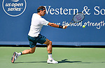 August 15,2019:   Roger Federer (SUI) loses to Andrey Rublev (RUS) 6-3, 6-4, at the Western & Southern Open being played at Lindner Family Tennis Center in Mason, Ohio.  ©Leslie Billman/Tennisclix/CSM