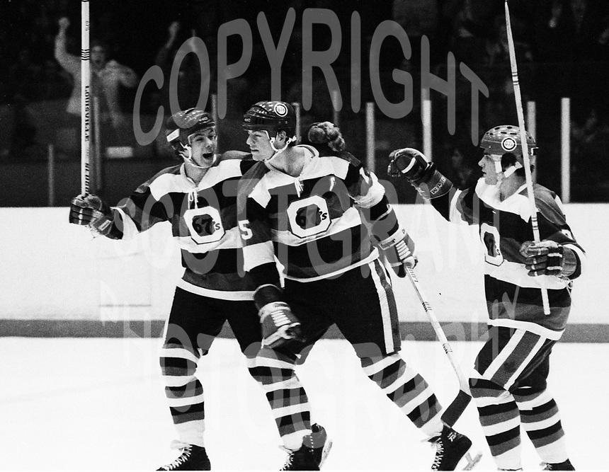 Bill Kitchen Bobby Smith Yvan Joly Ottawa 67's 1978. Photo Scott Grant