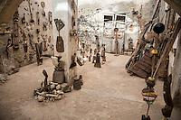 Workshop of Artist Djibril Sagna, Biannual Arts Festival, Goree Island, Senegal.