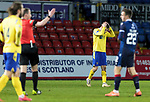 Ross County v St Johnstone…02.01.21   Global Energy Stadium     SPFL<br />Frustration for David Wotherspoon as ref Willie Collum blows hiswhistle at full time<br />Picture by Graeme Hart.<br />Copyright Perthshire Picture Agency<br />Tel: 01738 623350  Mobile: 07990 594431