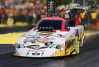 Aug. 1, 2014; Kent, WA, USA; NHRA funny car driver Cruz Pedregon during qualifying for the Northwest Nationals at Pacific Raceways. Mandatory Credit: Mark J. Rebilas-