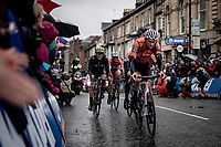 Mathieu van der Poel (NED/Corendon-Circus) rolling (apparently strong) in the front with 1 lap to go... not long after this moment he would suddenly 'bonk' & completely drop out of this group due to fatigue<br /> <br /> Elite Men Road Race from Leeds to Harrogate (shortened to 262km)<br /> 2019 UCI Road World Championships Yorkshire (GBR)<br /> <br /> ©kramon