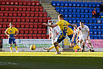 St Johnstone v Brechin City…10.10.20   McDiarmid Park  Betfred Cup<br />Callum Hendry scores from the penalty spot<br />Picture by Graeme Hart.<br />Copyright Perthshire Picture Agency<br />Tel: 01738 623350  Mobile: 07990 594431
