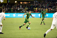 PORTLAND, OR - MARCH 01: Diego Valeri #8 of the Portland Timbers dribbles the ball during a game between Minnesota United FC and Portland Timbers at Providence Park on March 01, 2020 in Portland, Oregon.