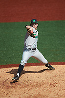 Marshall Thundering Herd relief pitcher Patrick Murphy (36) in action against the Charlotte 49ers at Hayes Stadium on April 23, 2016 in Charlotte, North Carolina. The Thundering Herd defeated the 49ers 10-5.  (Brian Westerholt/Four Seam Images)