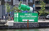 Nederland - Amsterdam -  2020.  Project Clean Amsterdam. Het doel is Zero Emission in de haven.   Foto : ANP/ Hollandse Hoogte / Berlinda van Dam