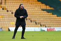 9th January 2021; Carrow Road, Norwich, Norfolk, England, English FA Cup Football, Norwich versus Coventry City; Norwich City Manager Daniel Farke happy with the win