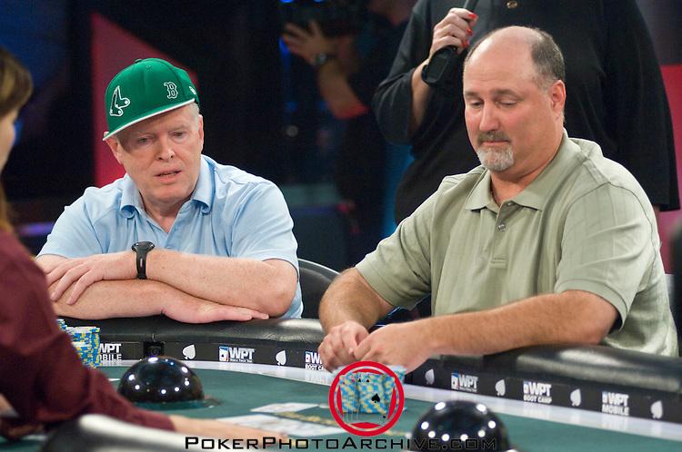 Harrington & Schneider in a hand.  Schneider was all in and doubled through Harrington.