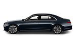 Car Driver side profile view of a 2021 Mercedes Benz S-Class S-350 4 Door Sedan Side View