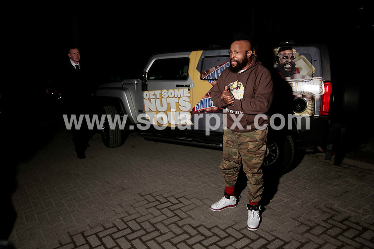 """**ALL ROUND PICTURES FROM SOLARPIX.COM**.**NO UK NEWSPAPER PUBLICATION**.**UK MAGAZINE & SUPPLEMENT PUBLICATION ONLY** AND NO PUBLICATION IN AUSTRALIA, FRANCE, GERMANY, ITALY AND SCANDINAVIA** .MR T arrives at the """"no nuts no entry"""" party in London hosted by the American actor and Snickers..The A Team star  is in the UK for his Snickers 'Get Some Nuts' tour until 1st March.JOB REF: 8562        SFE       DATE: 27.02.09.**MUST CREDIT SOLARPIX.COM OR DOUBLE FEE WILL BE CHARGED**.**ONLINE USAGE FEE  GBP 50.00 PER PICTURE - NOTIFICATION OF USAGE TO PHOTO @ SOLARPIX.COM**"""