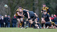 Saturday 18th February 2017 | CCB vs RBAI<br /> <br /> Rory Cahoon during the Ulster Schools' Cup Quarter Final clash between Campbell College Belfast and RBAI at Foxes Field, Campbell College, Belmont, Belfast, Northern Ireland.<br /> <br /> Photograph by John Dickson | www.dicksondigital.com