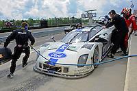 #8 Starworks Motorsports Ford/Riley of Ryan Dalziel & Enzo Potolicchio makes a pit stop.  class: Daytona Prototype (DP)