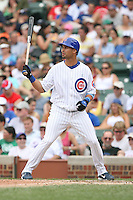 June 18th 2007:  Angel Pagan of the Chicago Cubs during a game at Wrigley Field in Chicago, IL.  Photo by:  Mike Janes/Four Seam Images