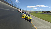 #66: Timmy Hill, Motorsports Business Management, Toyota Camry, #77: Parker Kligerman, Burton Kligerman eSports, Toyota Camry<br /> <br /> (MEDIA: EDITORIAL USE ONLY) (This image is from the iRacing computer game)