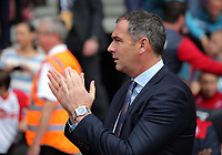 Swansea manager Paul Clement on the touch line during the Premier League match between Southampton and Swansea City at the St Mary's Stadium, Southampton, England, UK. Saturday 12 August 2017