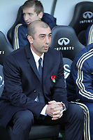 Saturday, 03 November 2012<br /> Pictured: Chelsea manager Roberto di Matteo.<br /> Re: Barclays Premier League, Swansea City FC v Chelsea at the Liberty Stadium, south Wales.
