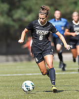 University of Central Florida forward/midfielder Kristina Trujic (6) brings the ball forward. After two overtime periods, Boston College tied University of Central Florida, 2-2, at Newton Campus Field, September 9, 2012.