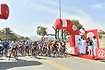 Ready to start Stage 2 the Dubai Municipality Stage of the UAE Tour 2020 running 168km from Hatta to Hatta Dam, Dubai. 24th February 2020.<br /> Picture: LaPresse/Massimo Paolone   Cyclefile<br /> <br /> All photos usage must carry mandatory copyright credit (© Cyclefile   LaPresse/Massimo Paolone)