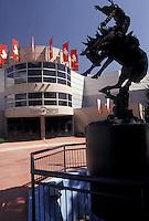 AJ3624, Calgary, Alberta, Stampede Park, Canada, Rodeo statue in front of Stampede Park in Calgary in the province of Alberta.