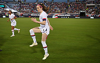 JACKSONVILLE, FL - NOVEMBER 10: Rose Lavelle #16 of the United States warming up during a game between Costa Rica and USWNT at TIAA Bank Field on November 10, 2019 in Jacksonville, Florida.