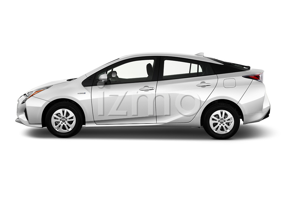 Car Driver side profile view of a 2018 Toyota Prius Two 5 Door Hatchback Side View
