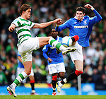20TH MAR 2011, CELTIC V RANGERS, CIS CUP FINAL, HAMPDEN PARK, GLASGOW, THOMAS ROGNE AND KYLE LAFFERTY, ROB CASEY PHOTOGRAPHY.