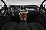 Stock photo of straight dashboard view of 2018 Mercedes Benz GLC-Class GLC300 5 Door SUV Dashboard
