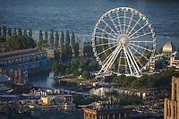Photo aerienne  de la roue du vieux-port<br /> <br /> PHOTO : Denis Germain<br />  - Agence Quebec Presse