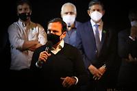 Mogi Guaçu (SP), 10/06/2021 - Doria-SP - O governador de São Paulo, João Doria, ao lado da sua esposa Bia Doria, realiza a autorização da construção no novas obras viárias do Programa Novas Estradas Vicinais em evento no Teatro TUPEC em Mogi Guaçu.