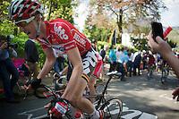 Tim Wellens (BEL/Lotto-Belisol) up the Mur de Huy<br /> <br /> La Flèche Wallonne 2014