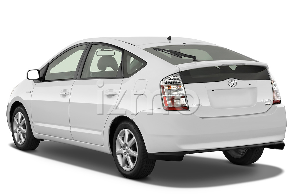 Rear three quarter view of a 2008 toyota prius touring