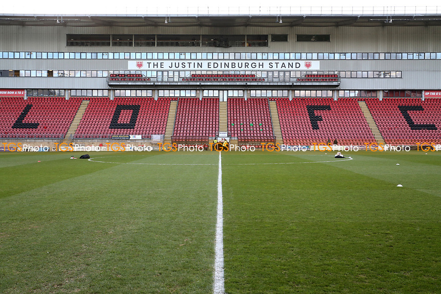 General view of the Justin Edinburgh stand during Leyton Orient vs Salford City, Sky Bet EFL League 2 Football at The Breyer Group Stadium on 2nd January 2021