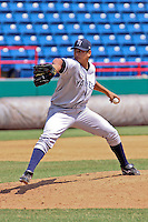 September 6, 2009:  Pitcher Manuel Banuelos of the Tampa Yankees delivers a pitch during a game at Space Coast Stadium in Melbourne, FL.  The Tampa Yankees are the High Class A Florida State league affiliate of the New York Yankees;  Photo By Mark LoMoglio/Four Seam Images