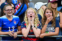 Seattle, WA - Thursday July 27, 2017: USA supporters during a 2017 Tournament of Nations match between the women's national teams of the United States (USA) and Australia (AUS) at CenturyLink Field.
