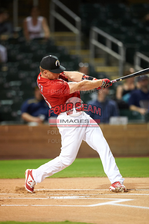 Glendale Desert Dogs Harrison Bader (36), of the St. Louis Cardinals organization, during the Bowman Hitting Challenge on October 8, 2016 at the Salt River Fields at Talking Stick in Scottsdale, Arizona.  (Mike Janes/Four Seam Images)