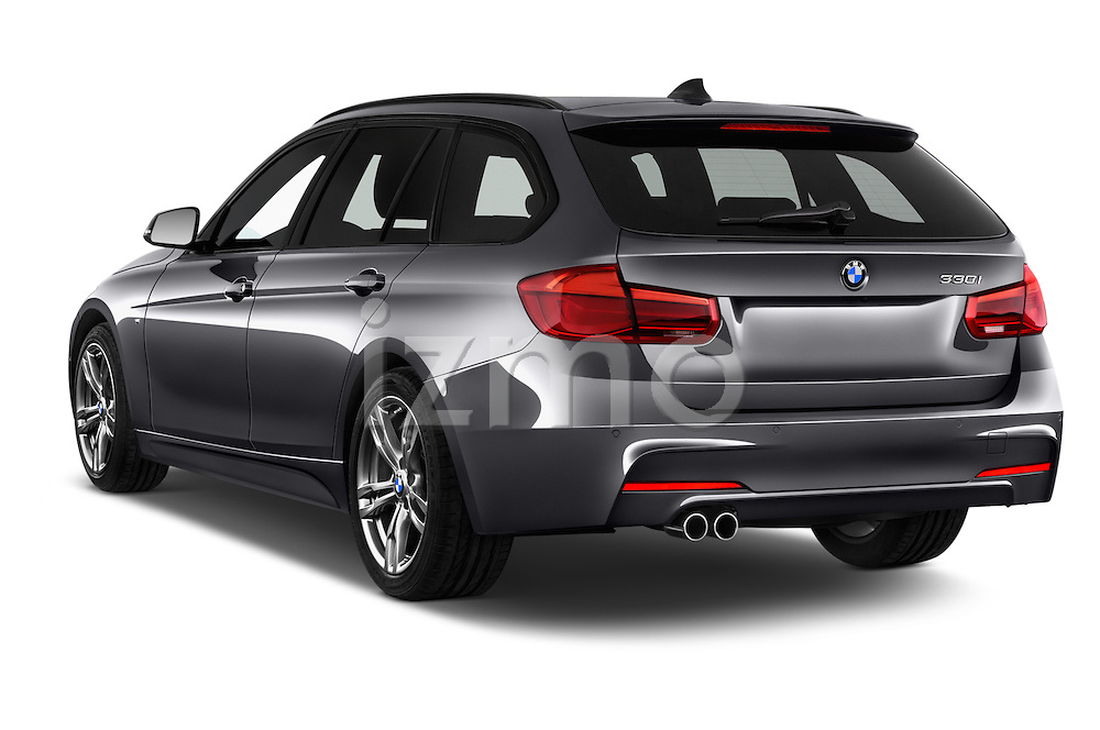 Car pictures of rear three quarter view of 2016 BMW 3 Series M Sport 5 Door Wagon Angular Rear
