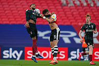 Match action during the Sky Bet League 2 PLAY-OFF Final match between Exeter City and Northampton Town at Wembley Stadium, London, England on 29 June 2020. Photo by Andy Rowland.