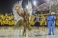 Rio de Janeiro (RJ), 21/02/2020 CARNAVAL - RJ - DESFILE - Desfile das escolas de samba  Unidos da Ponte, da Serie A, nesta sexta-feira (21), no sambodromo, no centro do Rio de Janeiro (RJ). Na foto: a Rainha de bateria Rosana Faria (Foto: Ellan Lustosa/Codigo 19/Codigo 19)