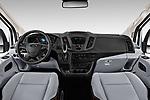 Stock photo of straight dashboard view of a 2019 Ford Transit Van 250 LR 4 Door Cargo Van