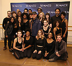 """Tommy Mottola with LaChanze, Storm Lever and Ariana DeBose and the cast attends the Meet & Greet for """"Summer: The Donna Summer Musical"""" on March 8, 2018 at the New 42nd Street Studios,  in New York City."""