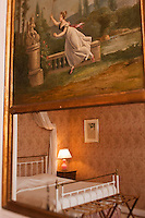 Europe/France/Aquitaine/33/Gironde/Saint-Yzans-de-Médoc: Château  Loudenne - Détail d'une des chambres du Château  ou sont reçus les hôtes lors de l'accueil au Château