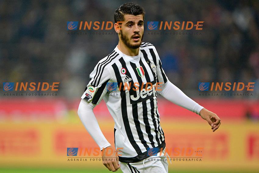 Alvaro Morata Juventus<br /> Milano 18-10-2015 Stadio Giuseppe Meazza - Football Calcio Serie A Inter - Juventus. Foto Giuseppe Celeste / Insidefoto
