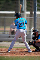 Miami Marlins Jerar Encarnacion (27) during a Minor League Spring Training Intrasquad game on March 28, 2019 at the Roger Dean Stadium Complex in Jupiter, Florida.  (Mike Janes/Four Seam Images)