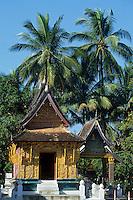 Asie/Laos/ENV Ventiane/Luang Prabang: Vat Xieng Thong détail du temple et la cité royale