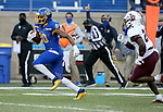 BROOKINGS, SD - MAY 2: Pierre Strong Jr. #20 of the South Dakota State Jackrabbits breaks loose for a gain past David Grenia #21 of the Southern Illinois Salukis at Dana J Dykhouse Stadium on May 2, 2021 in Brookings, South Dakota. (Photo by Dave Eggen/Inertia)