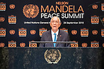 Opening Plenary Meeting of the Nelson Mandela Peace Summit<br /> <br /> His Excellency Marcelo REBELO DE SOUSAPresident of the Portuguese Republic