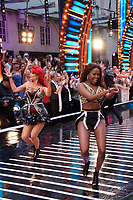 """Dianne Buswell and Oti Mabuse<br /> at the launch of """"Strictly Come Dancing"""" 2018, BBC Broadcasting House, London<br /> <br /> ©Ash Knotek  D3426  27/08/2018"""
