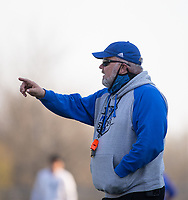 Steve Peck head soccer coach of Rogers against Springdale at Whitey Smith Stadium, Rogers High School, Rogers, Arkansas, on Friday, April 2, 2021 / Special to NWA Democrat Gazette David Beach