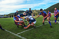 Action from the Horowhenua Kapiti Ramsbotham Cup premier club rugby match between Paraparaumu and Rahui at Paraparaumu Domain in Paraparaumu, New Zealand on Saturday, 5 June 2021. Photo: Dave Lintott / lintottphoto.co.nz